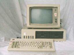 IBM PC 5150 met twee floppy's