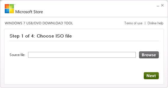 Download Windows 7 USB/DVD Tool