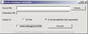 Works Database Converter