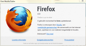 Mozilla Firefox 13