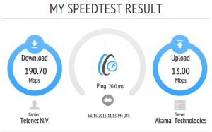 Speedtest met OpenSpeedTest